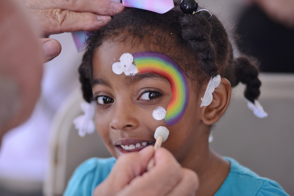 Face Painting at 2019 Detroit River Days