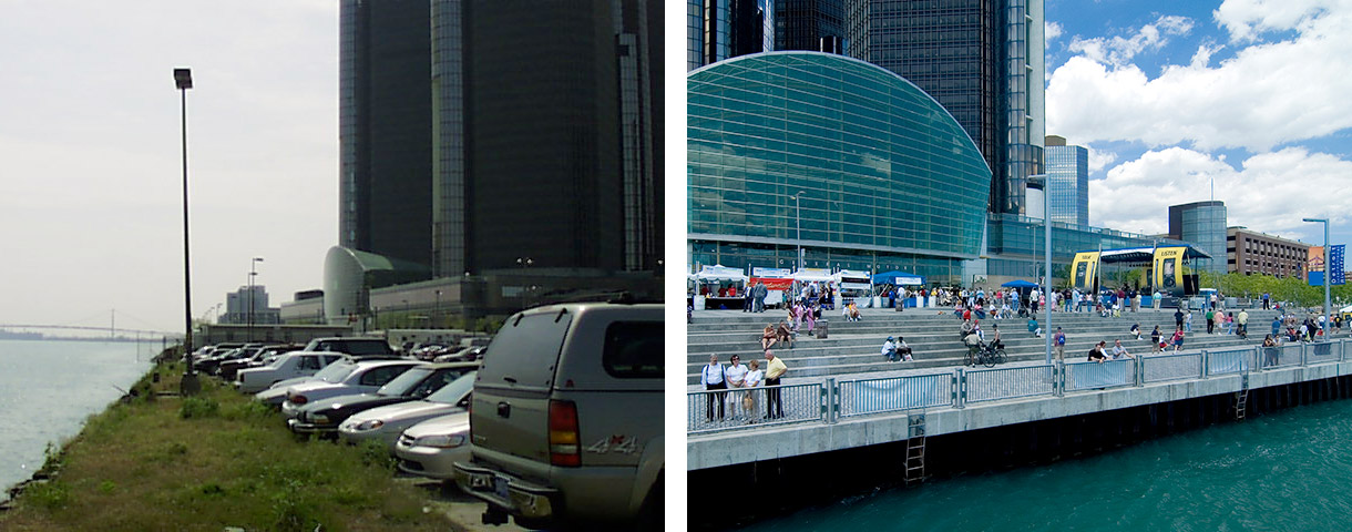 General Motors Plaza Before & After