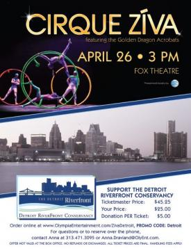 Discounted Tickets to Cirque Ziva Supporting the Detroit RiverFront Conservancy!